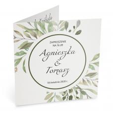 Zaproszenia Ślubne z motywem liści