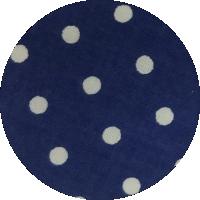Granatowy w kropki - bawełna