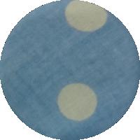 Niebieskie kółka - bawełna