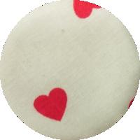 Czerwone serca - bawełna