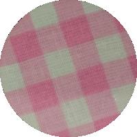 Różowa kratka duża - bawełna