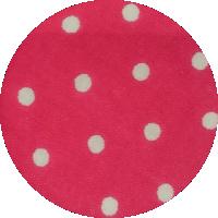 Różowy w kropki - bawełna