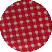 Czerwona kratka - bawełna
